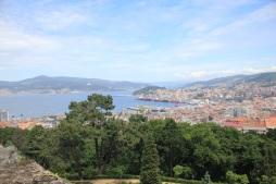 Vue du chateau de Vigo