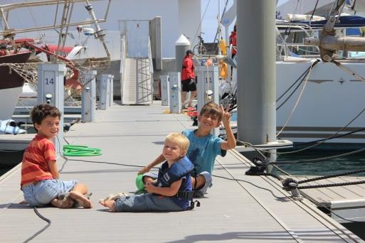 Ca rigole sur le ponton avec Renan et Jules