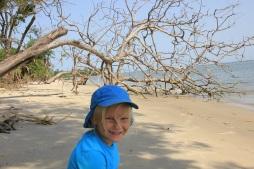 Blanche sur la plage du bolon de Keichouane